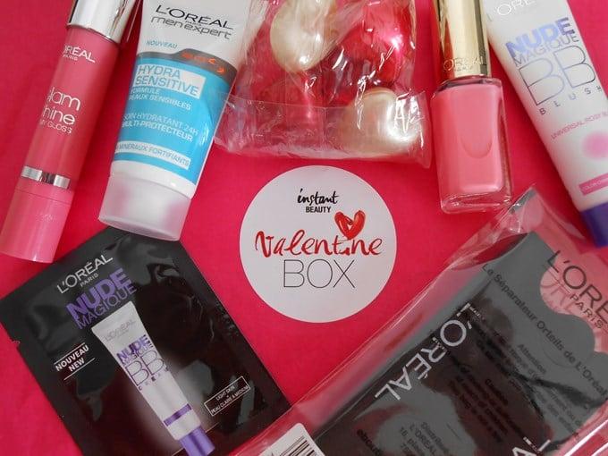 Ma première box beauté: la Valentine Box de l'Oréal.