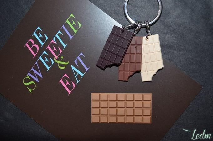 Porte clés 3 chocolats Caroline Lisfranc