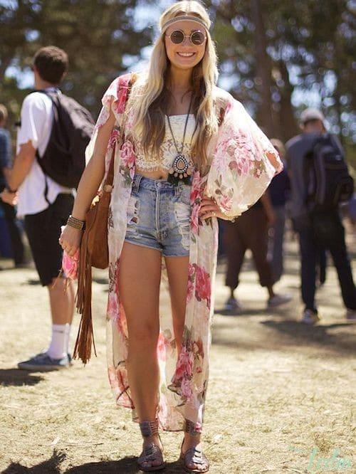 Le short en jean version hippy chic