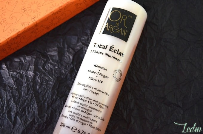 Soin capillaire Total Eclat by Or et Argan