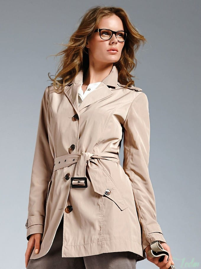Trench pour silhouette sablier
