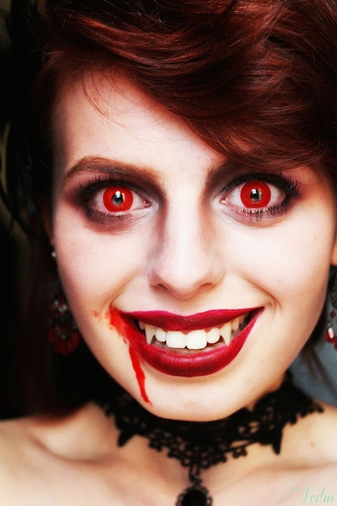 Le maquillage queen of vampires de Louise