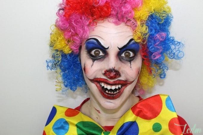 Le maquillage clown diabolique de Cynthia