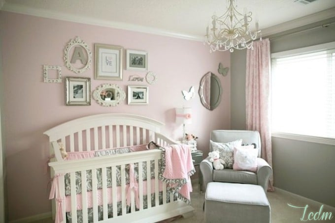 Id es d co chambre b b fille for Deco chambre bebe gris