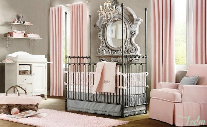 Id es d co chambre b b fille for Decoration chambre de bebe fille