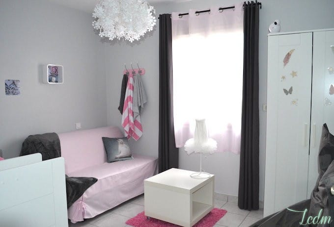 Id es d co chambre b b fille for Idee de decoration chambre