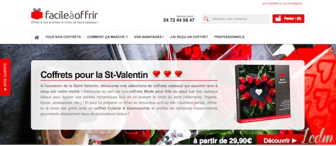 Box cadeau Saint Valentin