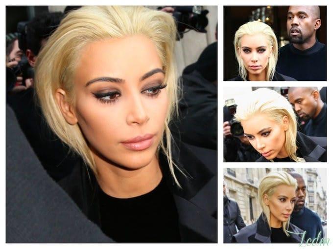 Kim Kardashian décolorée