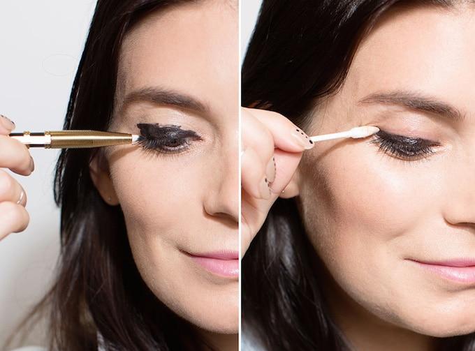 Application d'un eye liner