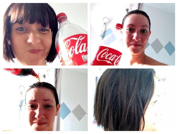 Se rincer les cheveux au Coca Cola