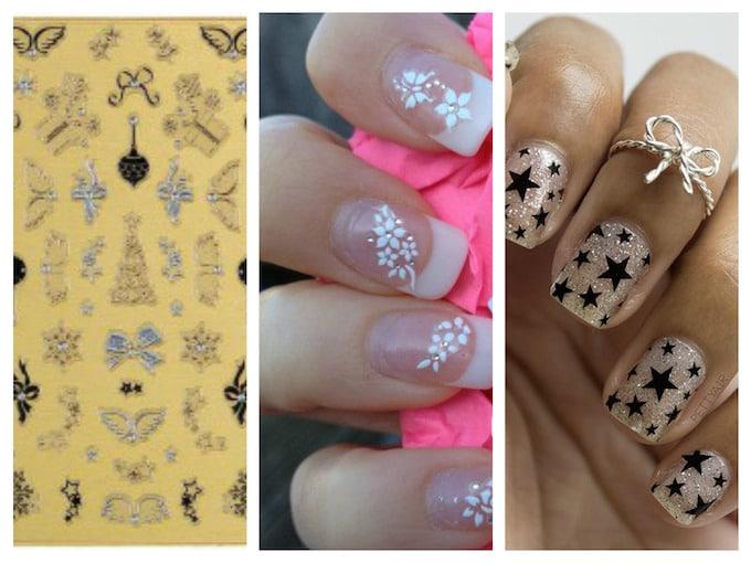 Les stickers et autres décors adhésifs pour ongles