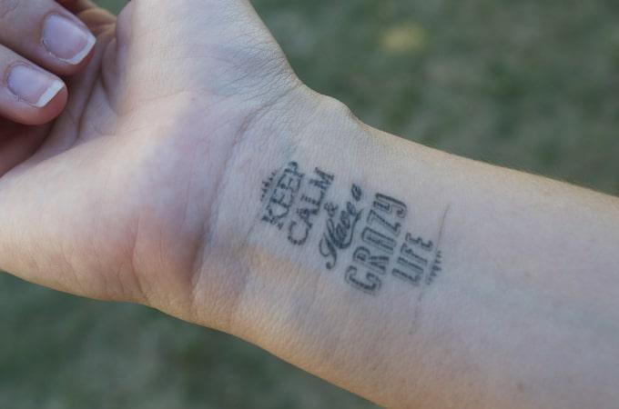 Tattoo éphémère