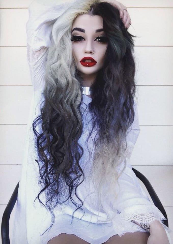 Photo black & white hair