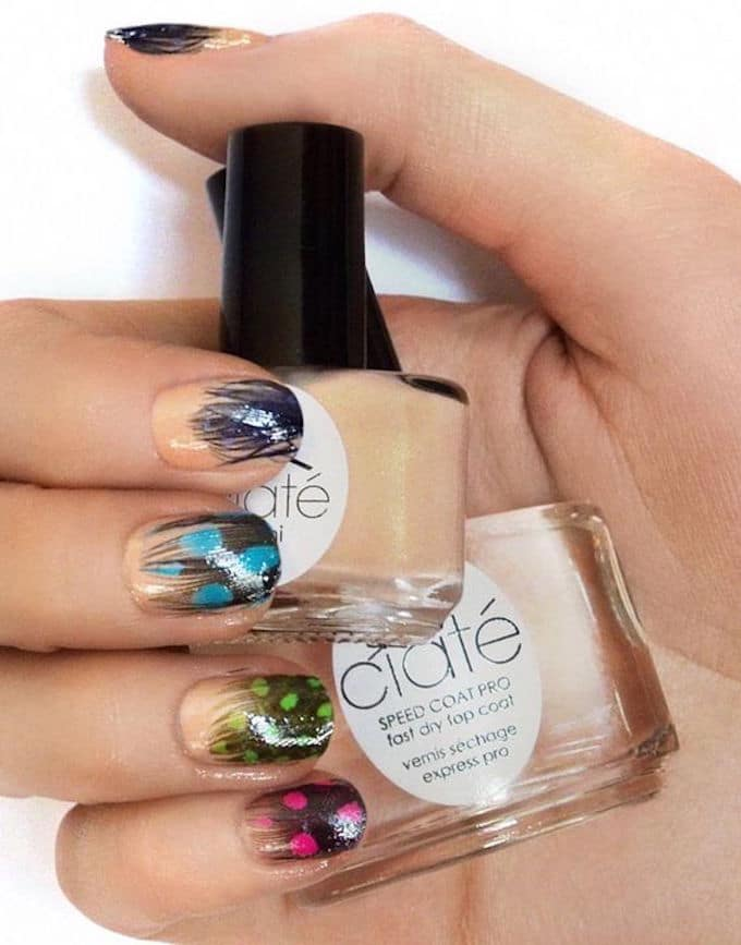 Ongles plume