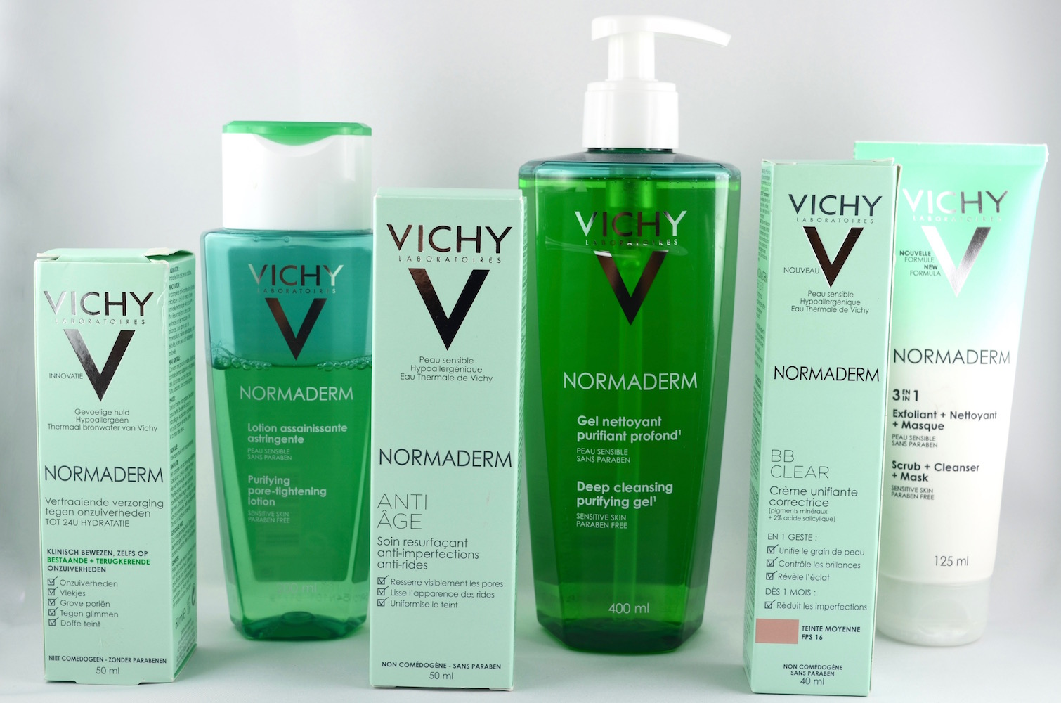 pour ma routine soin du visage j ai resign chez vichy normaderm. Black Bedroom Furniture Sets. Home Design Ideas