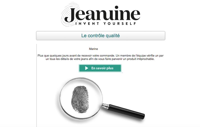 Mailing Jeanuine.com