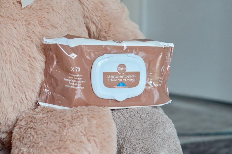 Les lingettes nettoyantes Gifrer pour l'hygiène bébé