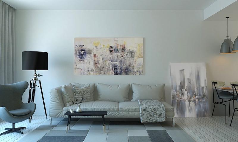 Salon moderne et minimaliste