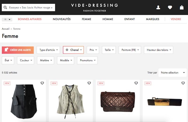 Vide dressing online